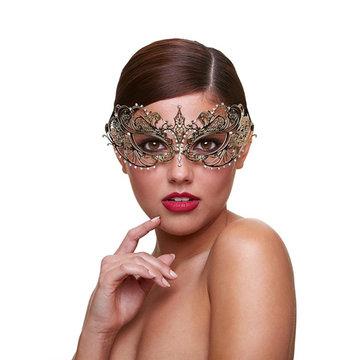 Metaal Venetiaans Masker - Harlot
